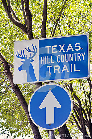 Free Vertical Sign For Texas Hill Country Trail Stock Photography - 54116402