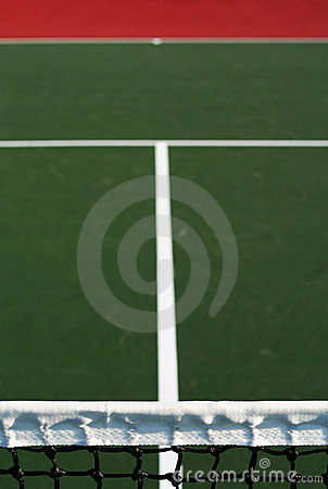 Vertical tennis court abstract