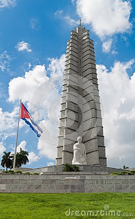 Vertical view of the Jose Marti memorial in Havana