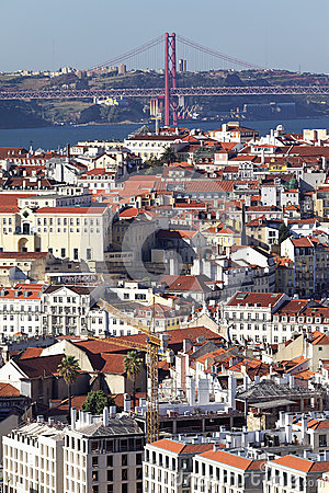 Vertical view of Lisbon