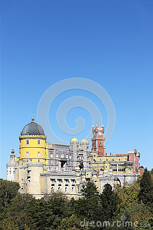 Vertical view of Pena National Palace