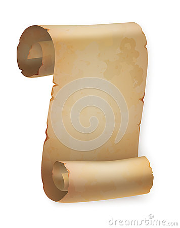 Free Vertical Vintage Paper Roll Or Parchment Scroll Stock Photos - 81916353