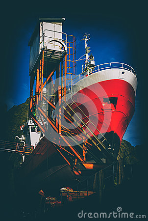 Free Vertical Vintage Postcard Of Norway Ship Stock Photo - 61495610
