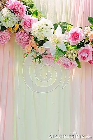 Vertical wedding scene background