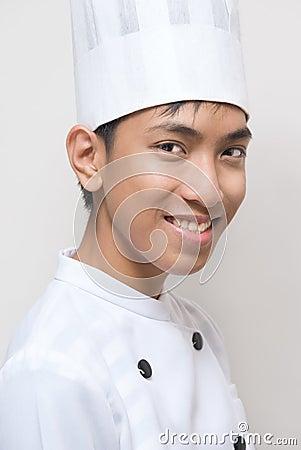 Verticale de jeune cuisinier de Chinois