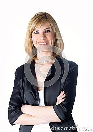 Portrait de la jeune belle femme d affaires