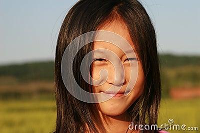 verticale chinoise de petite fille images libres de droits image 24164319