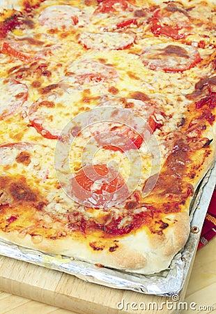 Verticale della pizza siciliana