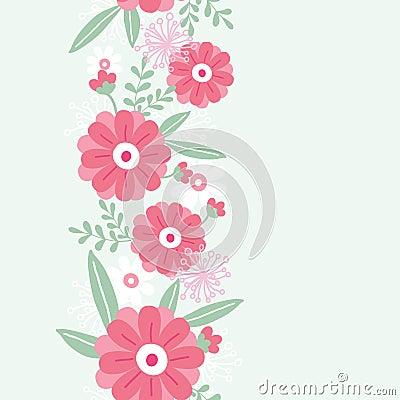 Vertikales nahtloses Muster der Pfingstrosenblumen und -blätter