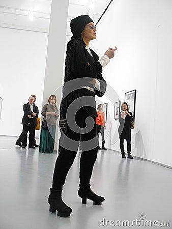 Veruschka (Vera Lehndorff) in Moscow Editorial Stock Image