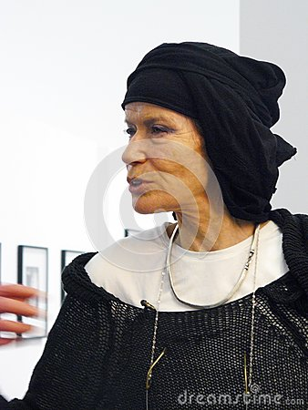 Veruschka (Vera Lehndorff) in Moscow Editorial Stock Photo