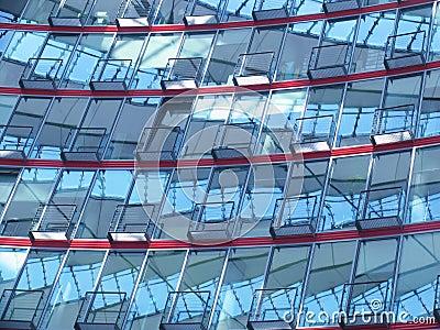 Verwirrende Hausfassade