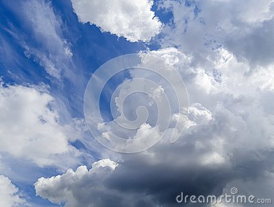 Very beautiful blue clouds, photo taken by a professional with love Stock Photo