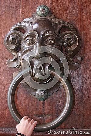 Very Big Antique Door Knocker Royalty Free Stock Image