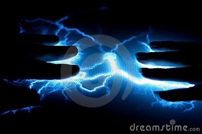 Very Bright Blue Lightning conveys Electricity