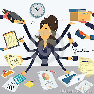 Free Very Busy Businesswoman Stock Image - 47855721