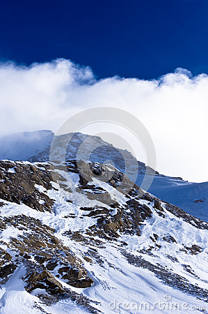 Very close to the top of Kaprun glacier