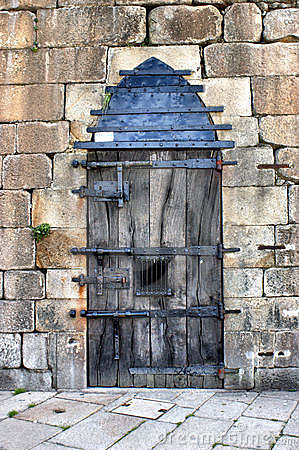 Very closed door in Ponte de Lima, Portugal