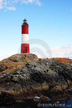 A very colourful lighthouse