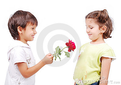 Very cute scene of two little children