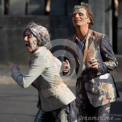 Free Very Dirty Actors In The Street Stock Photos - 27188743