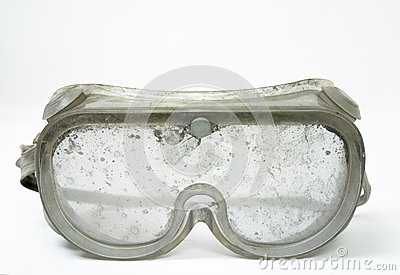 Very Dirty Safety Goggles.