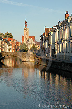 Very early morning in Bruges