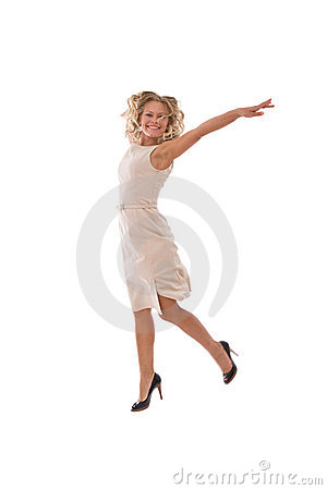 Very happy businesswoman