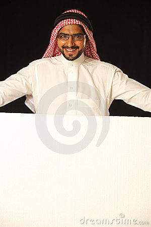 Very happy male arab