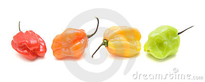 Very hot small peppers