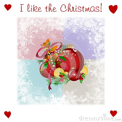 Very kind Christmas illsutration with balls