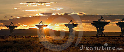 Very Large Array as Sunset (Satellite Dishes)
