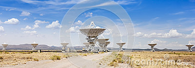 A Very Large Array Scene in New Mexico Editorial Image