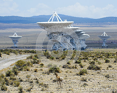 A Very Large Array Scene in New Mexico Editorial Stock Image