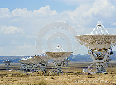 A Very Large Array Scene in New Mexico Editorial Photography