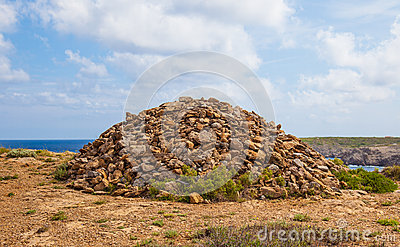 Very Large Rock stack in menorca