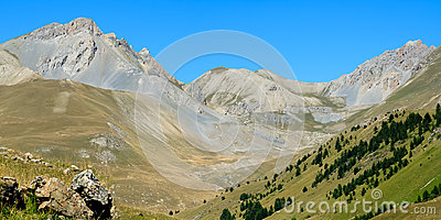 Very nice mountain ridge near Italy and France