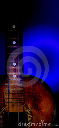 Free Very Old Blues Guitar Royalty Free Stock Photo - 7984055