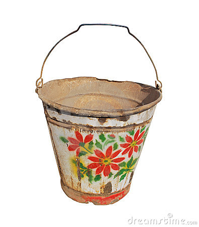 Free Very Old Bucket Stock Photography - 13504222