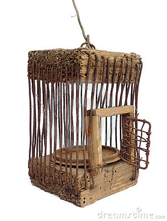 Very Old Cage Open Stock Image - Image: 9021221