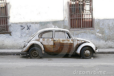 Very old car. Havana, Cuba