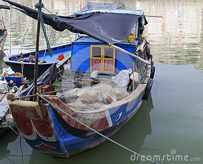A very old fishing boat Editorial Photography