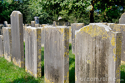 Very old graves on cemetery