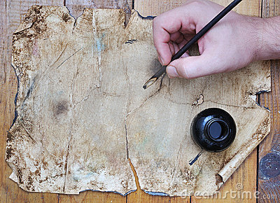 Very old grunge paper, great for background