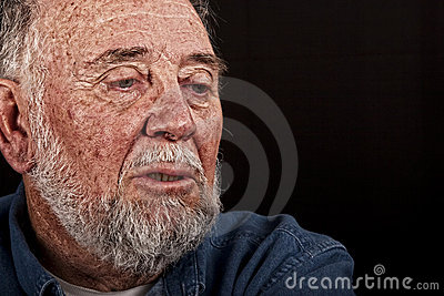 Very old man weeping