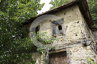 Very old mud Bosnian house
