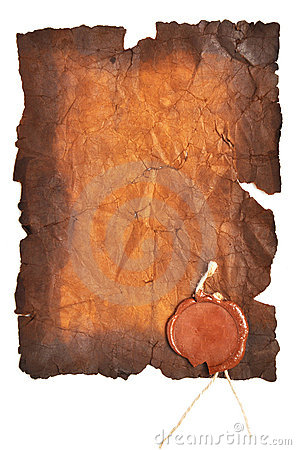 Free Very Old Paper With A Wax Seal Stock Image - 16941741