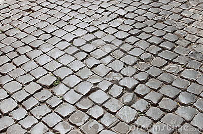 Very old roman pavement