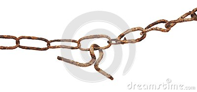 Very old rusty chain