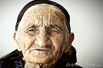 Very old woman face